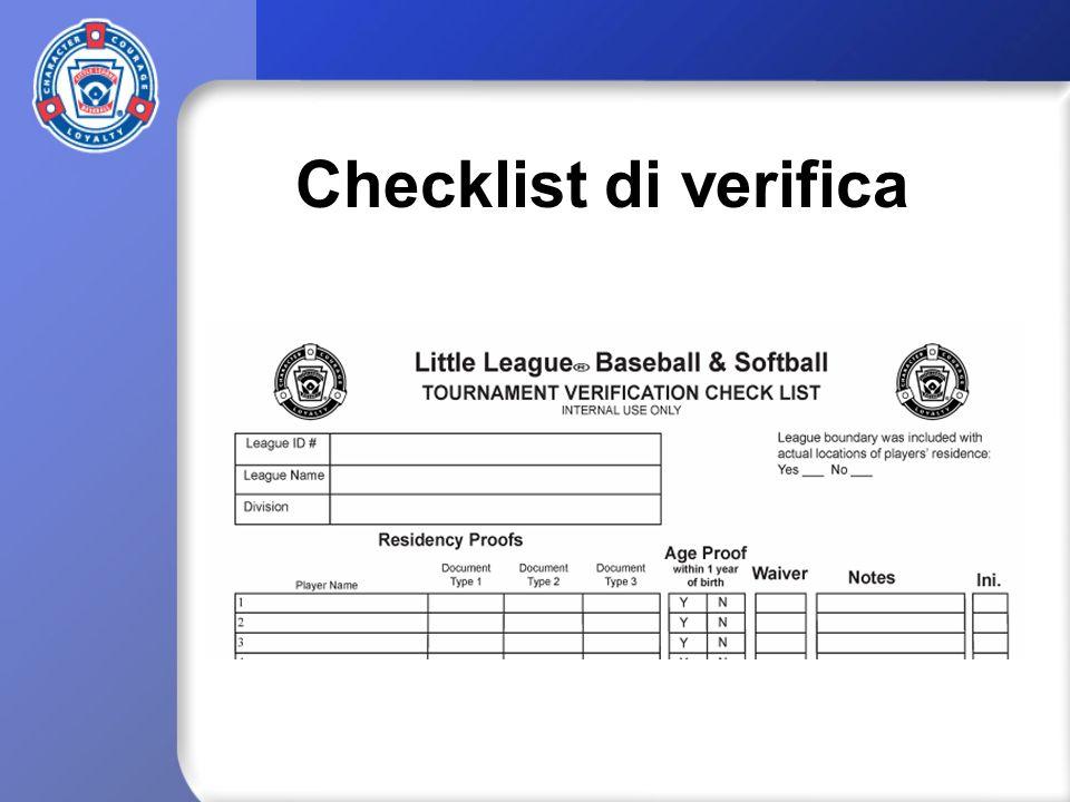 Checklist di verifica