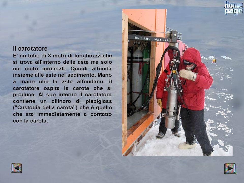 Il carotatore E un tubo di 3 metri di lunghezza che si trova all interno delle aste ma solo nei metri terminali.