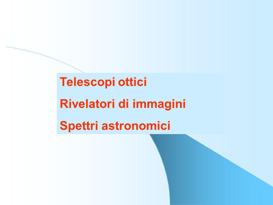Telescopi ottici Rivelatori di immagini Spettri astronomici