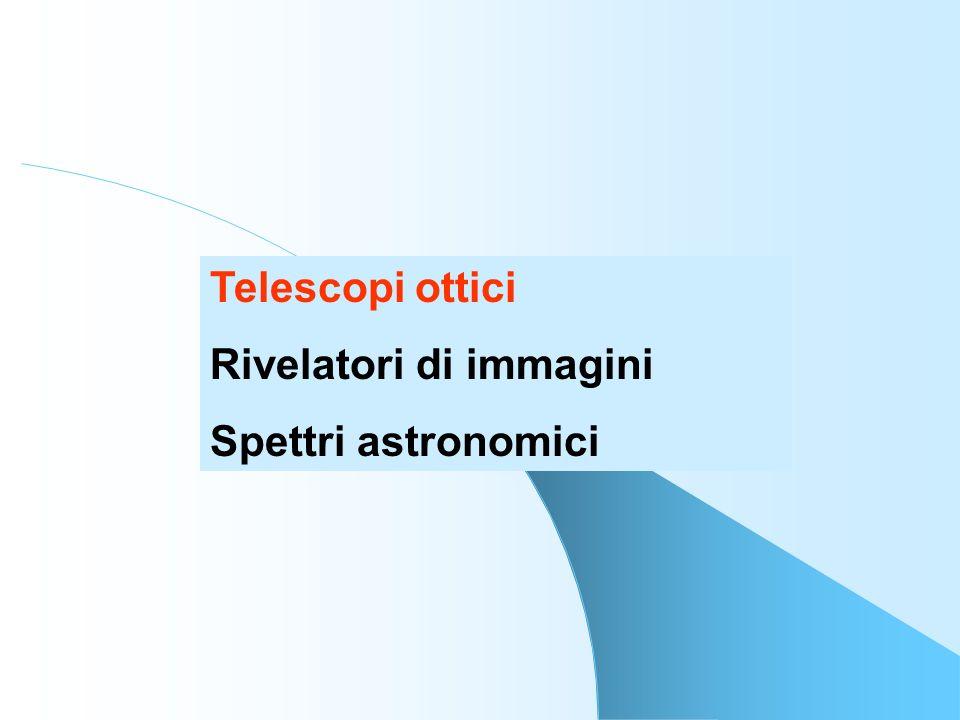 Telescopi ottici: Spettro elettromagnetico Osservatori astronomici Strumentazione Domanda di tempo di osservazione