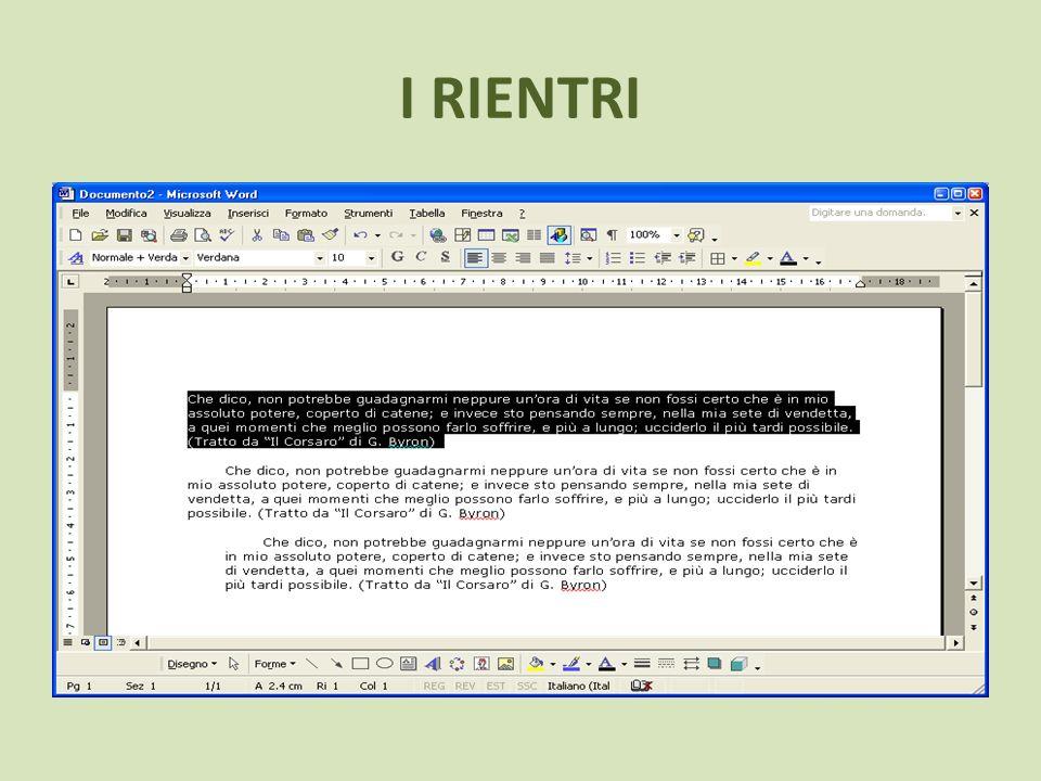 ELENCHI ELENCO NUMERATO Utilizza questo comando per numerare automaticamente una lista voci (linee o paragrafi).