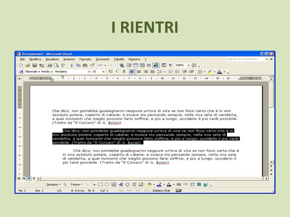 STILE Utilizza il comando Stile per impostare differenti stili nel tuo testo.