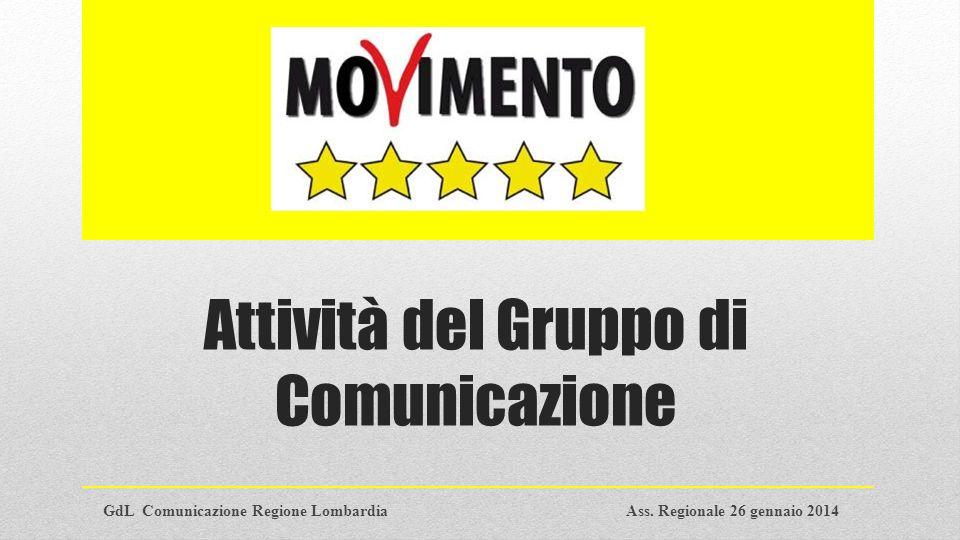 Obiettivi del gruppo GdL Comunicazione Regione LombardiaPag.