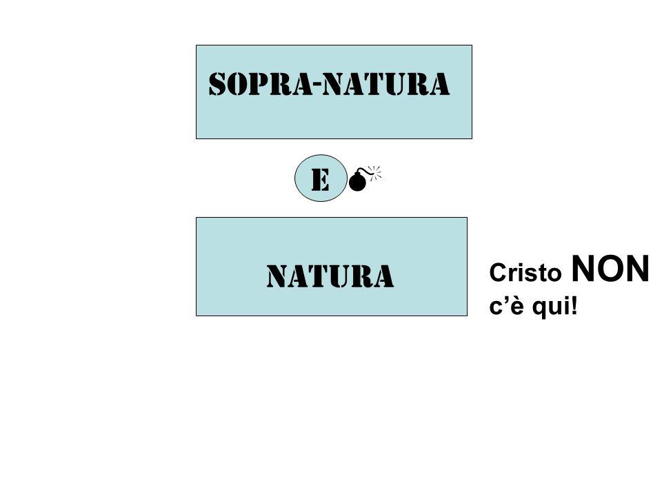 Sopra-natura E natura Cristo NON cè qui!