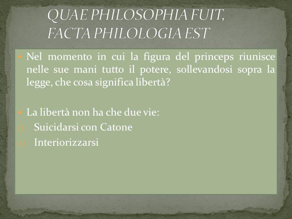 Lo stile di Seneca riflette un doppio e opposto movimento: dallesterno allinterno, verso la solitaria libertà dellio, il linguaggio dellinteriorità, e dallinterno verso lesterno, verso la liberazione dellumanità, il linguaggio della predicazione.