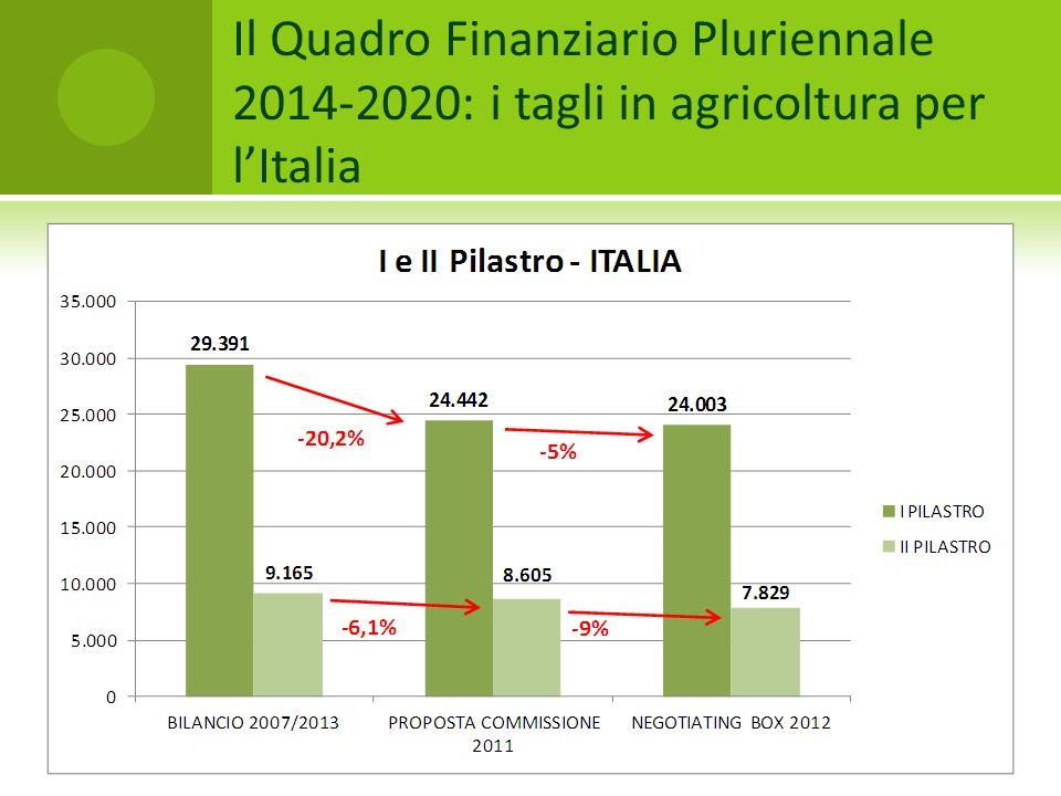 Il Quadro Finanziario Pluriennale 2014-2020: i tagli in agricoltura per lItalia