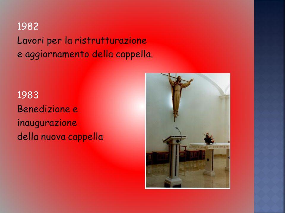 1982 Lavori per la ristrutturazione e aggiornamento della cappella.