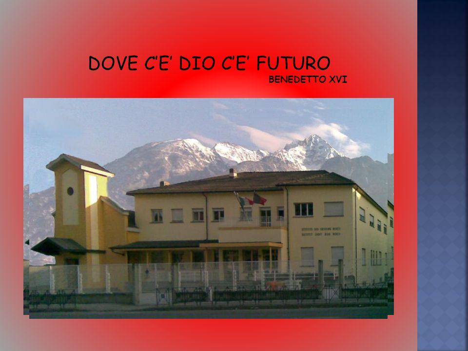 DOVE CE DIO CE FUTURO BENEDETTO XVI