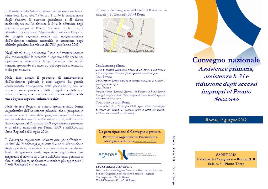12.00 Limpatto di alcuni progetti sugli accessi in Pronto Soccorso.