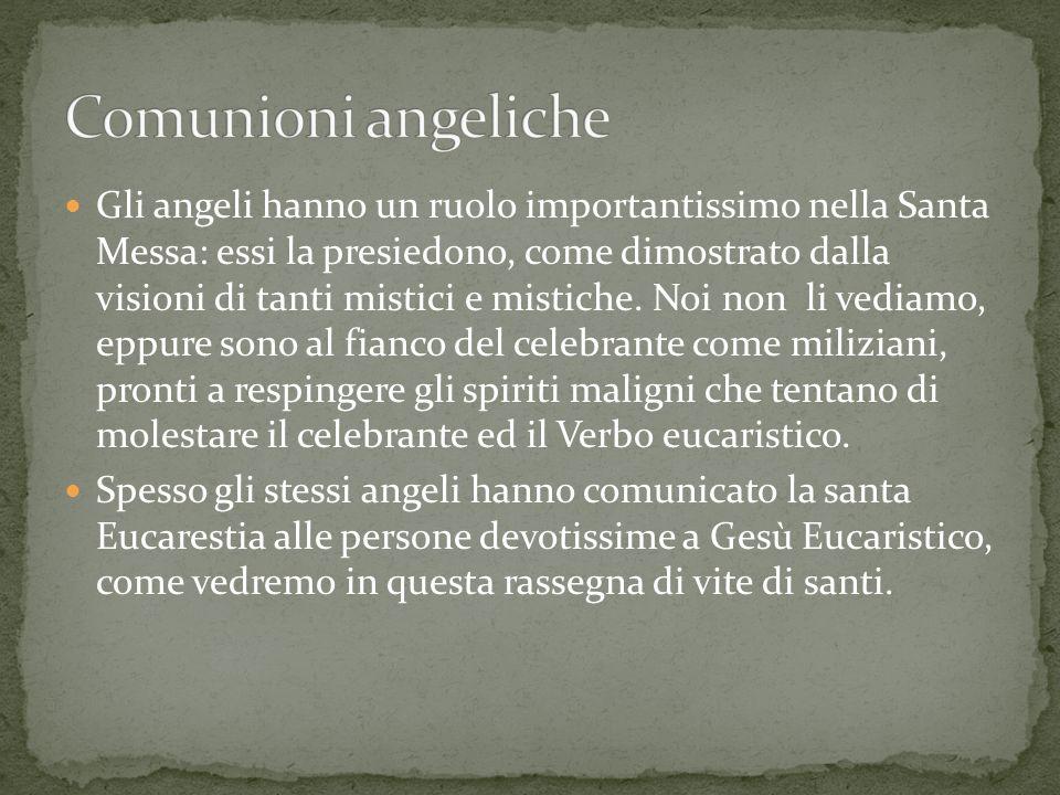 Gli angeli hanno un ruolo importantissimo nella Santa Messa: essi la presiedono, come dimostrato dalla visioni di tanti mistici e mistiche. Noi non li