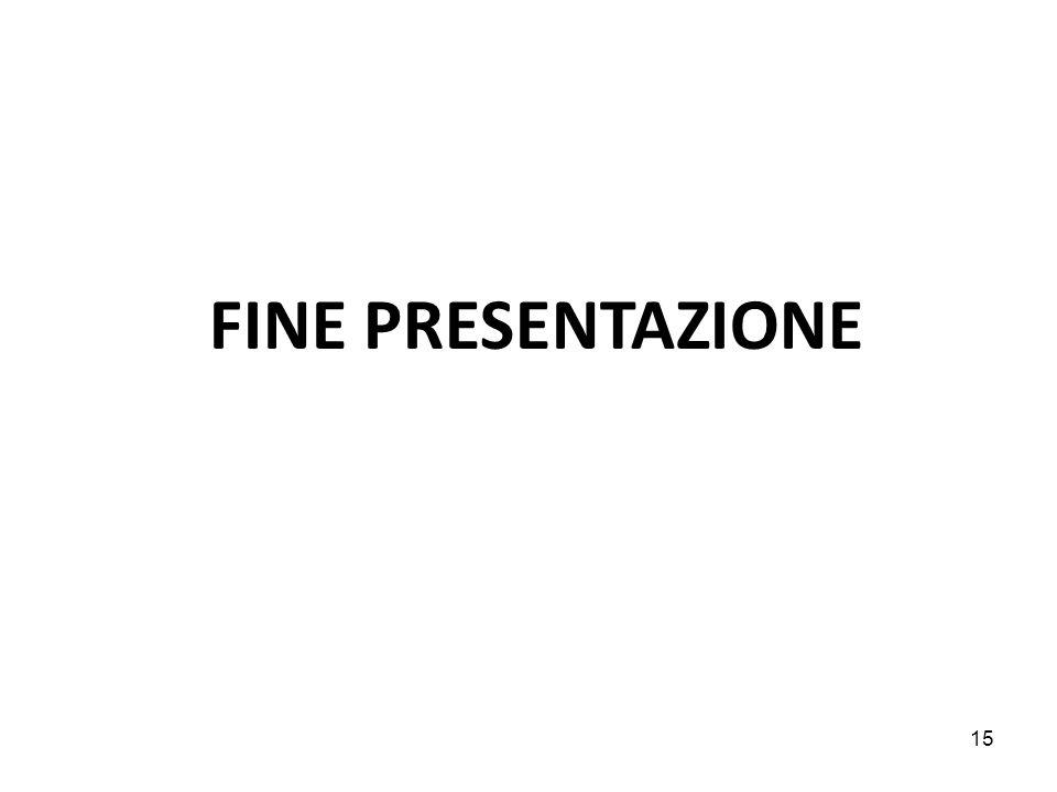 FINE PRESENTAZIONE 15