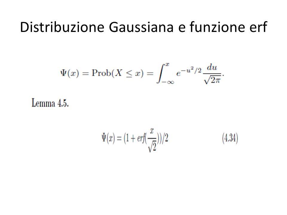 Distribuzione Gaussiana e funzione erf