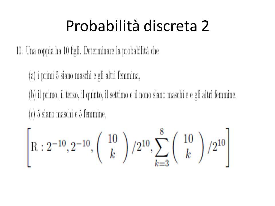 Probabilità discreta 3