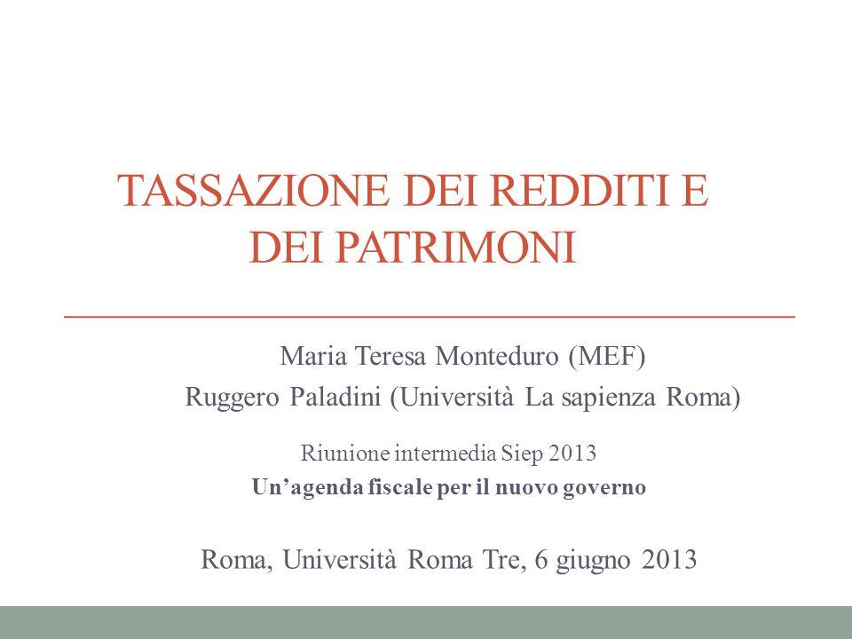 La tassazione dei redditi e della ricchezza in Italia: ripensare il tax mix.