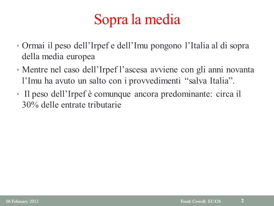 Ripensare il tax mix in Italia.