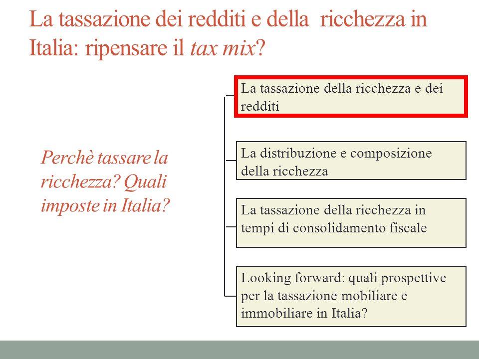La distribuzione della ricchezza familiare in Italia La ricchezza netta media delle famiglie italiane è circa 364 mila euro.