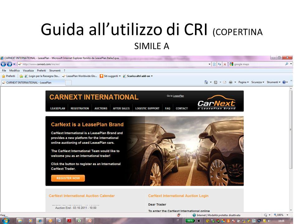 Guida allutilizzo di CRI (COPERTINA SIMILE A