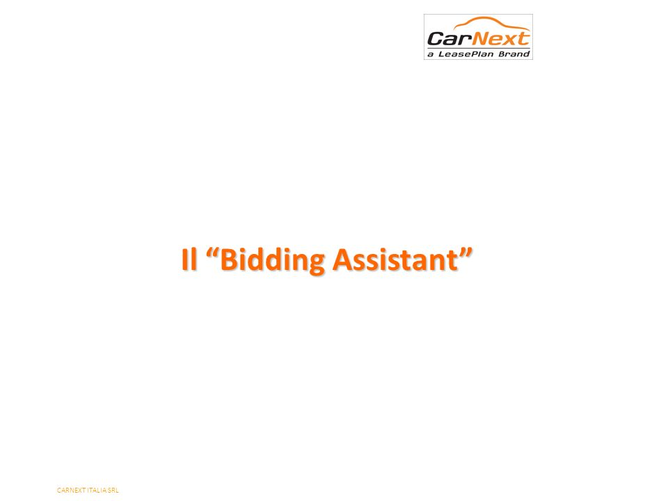 Il Bidding Assistant PAGE 6 CARNEXT ITALIA SRL