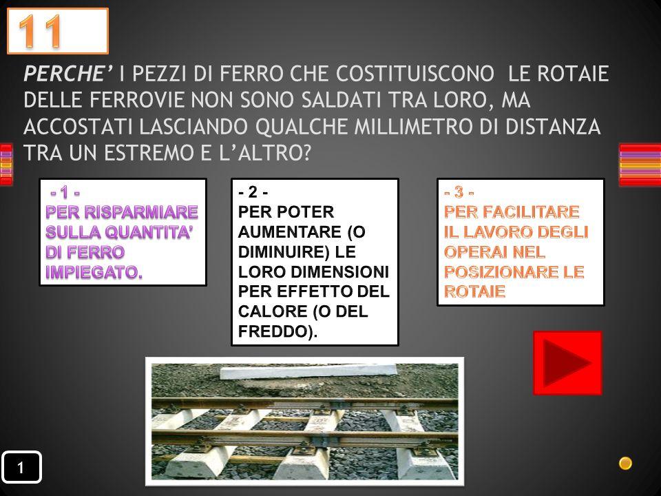 CONDUTTIVITÀ TERMICA IL CALORE SI TRASMETTE MAGGIORMENTE ATTRAVERSO I METALLI O IL LEGNO?. 1