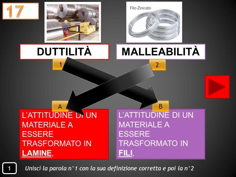 Quale oggetto possiede unalta RESISTENZA A FATICA? -2 - AMMORTIZZATORE BICICLETTA - 1 - GUANTI - 3 - MURO 1