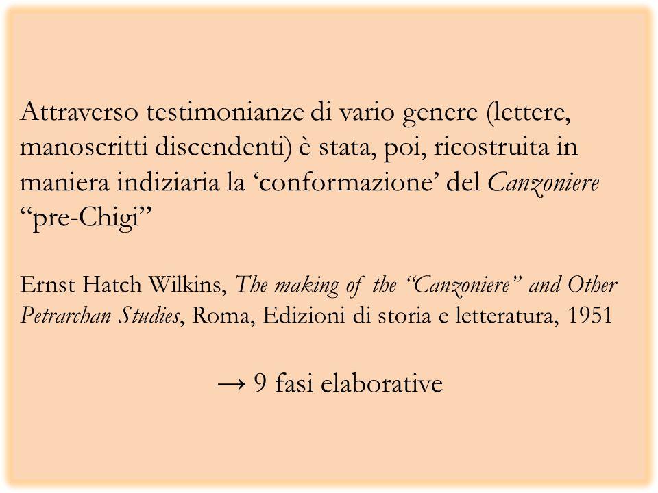 Attraverso testimonianze di vario genere (lettere, manoscritti discendenti) è stata, poi, ricostruita in maniera indiziaria la conformazione del Canzo