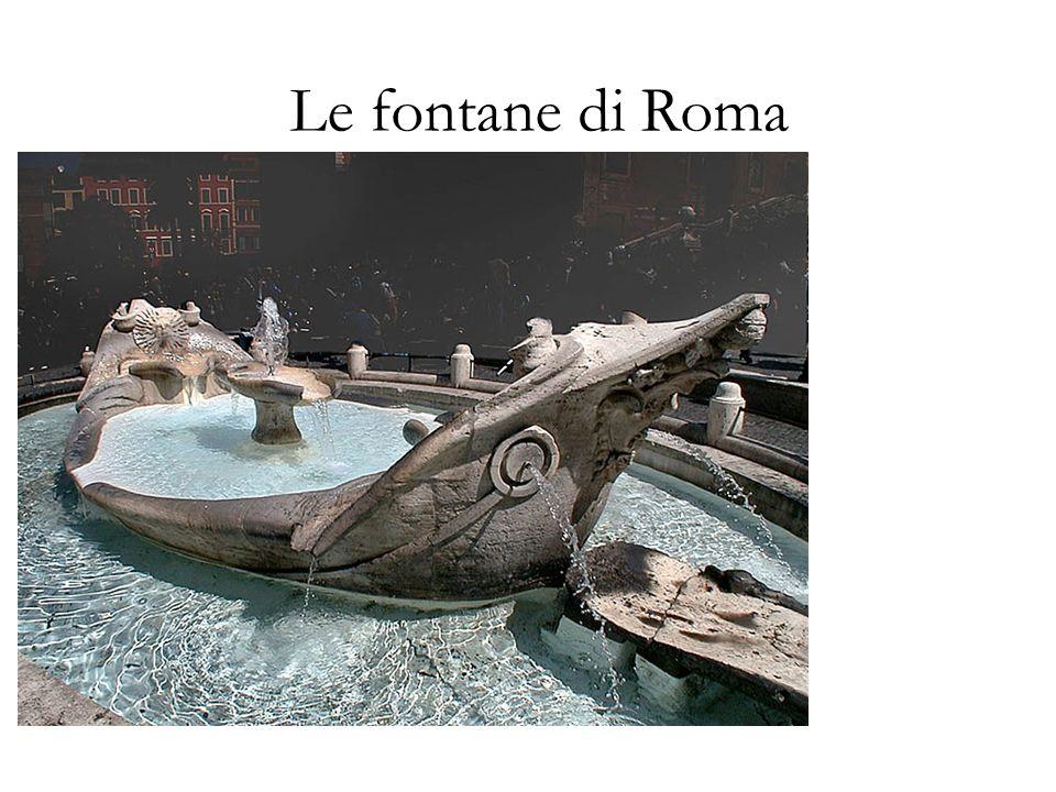 La fontana del Tritone Ritenuta una delle fontane piů belle di Roma fu realizzata in travertino da Gian Lorenzo Bernini nel 1643.