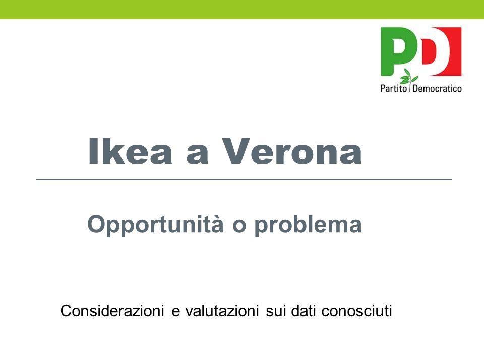 Ikea a Verona Opportunità o problema Considerazioni e valutazioni sui dati conosciuti