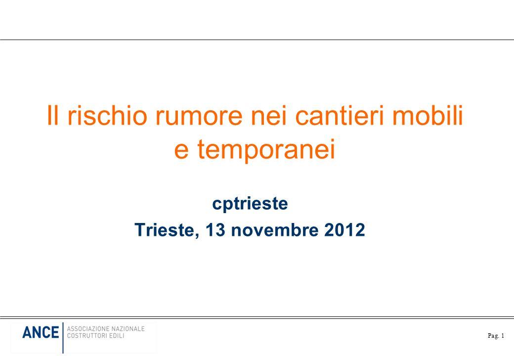 Pag. 1 Il rischio rumore nei cantieri mobili e temporanei cptrieste Trieste, 13 novembre 2012