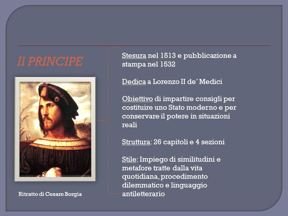 IN quest opera Machiavelli esalta l uso delle milizie cittadine, tema fondamentale dei sette libri di dialoghi che si immaginano tenuti a Firenze negli Orti Oricellari (giardini dei Rucellai) nel 1516 e che hanno come interlocutore anche Fabrizio Colonna, il quale esprime le idee dell autore.