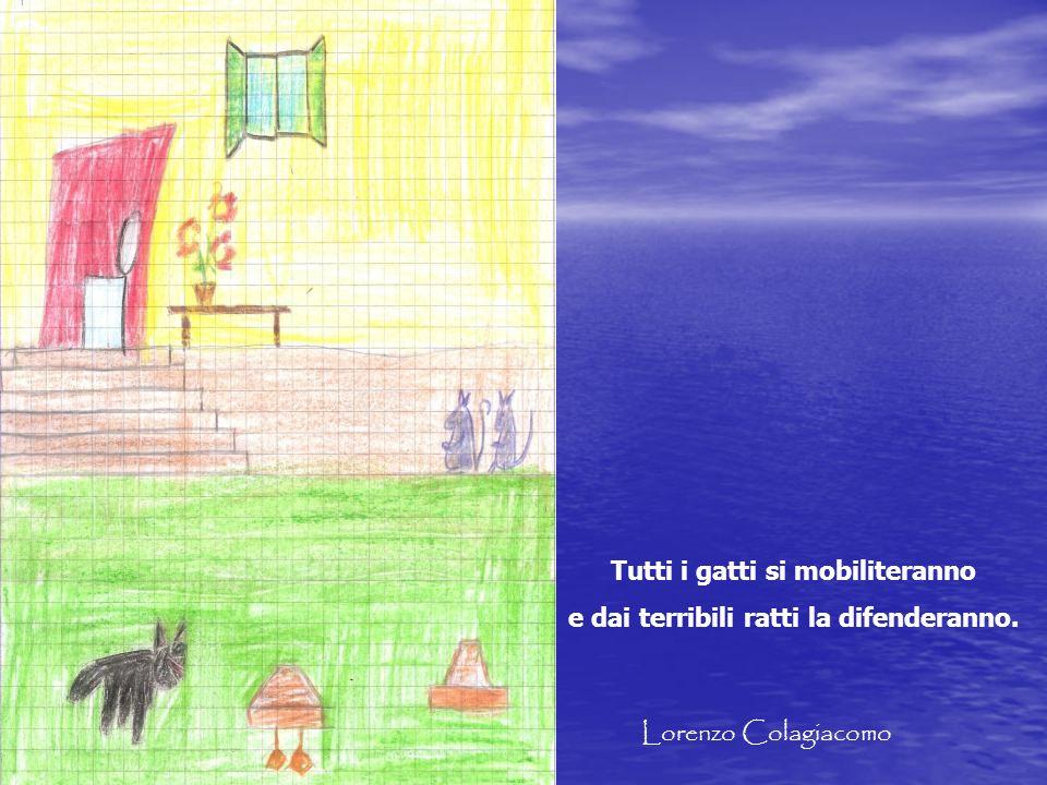 Tutti i gatti si mobiliteranno e dai terribili ratti la difenderanno. Lorenzo Colagiacomo