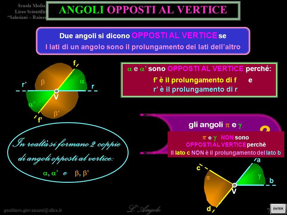 gualtiero.giovanazzi@alice.it LAngolo Scuola Media Liceo Scientifico Salesiani – Rainerum 8 / 29 Misura
