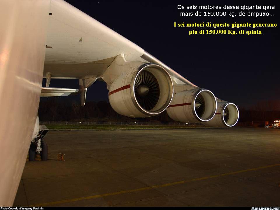 I sei motori di questo gigante generano più di 150.000 Kg. di spinta