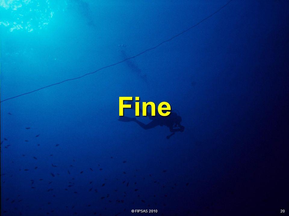 © FIPSAS 2010 20 Fine