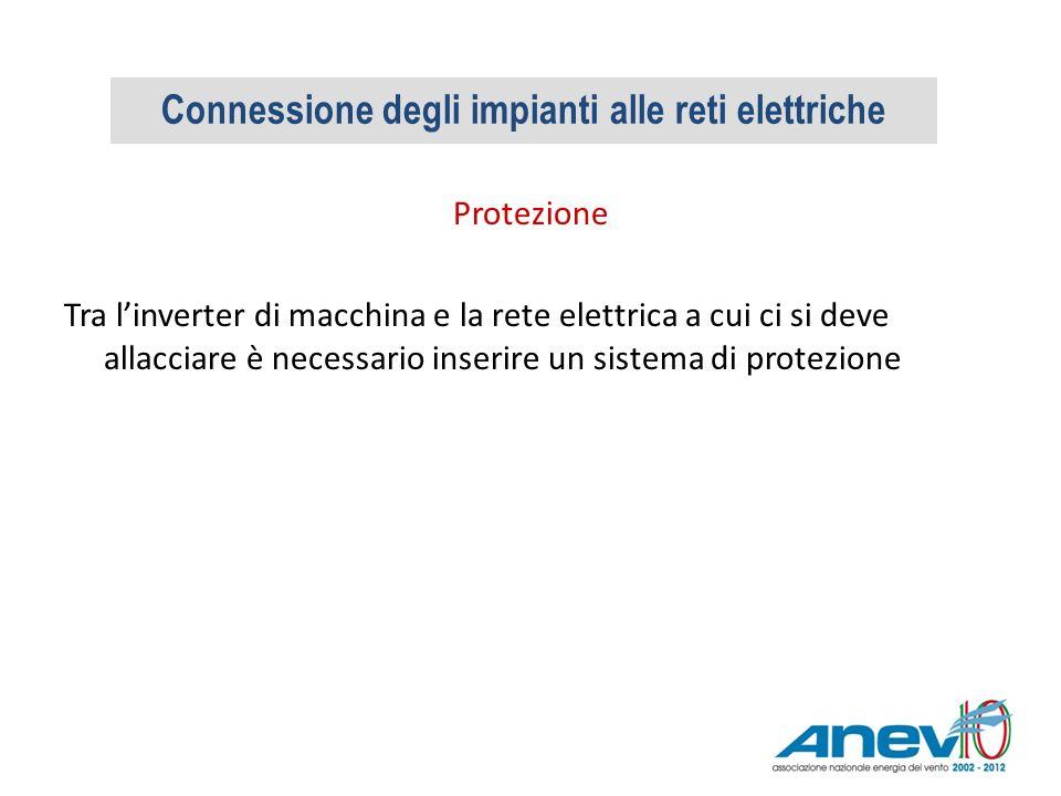 Protezione Tra linverter di macchina e la rete elettrica a cui ci si deve allacciare è necessario inserire un sistema di protezione Connessione degli
