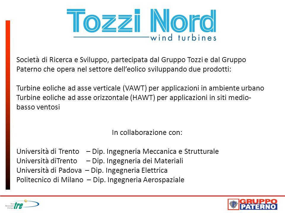 Società di Ricerca e Sviluppo, partecipata dal Gruppo Tozzi e dal Gruppo Paterno che opera nel settore delleolico sviluppando due prodotti: Turbine eo