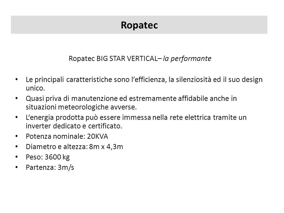 Ropatec Ropatec BIG STAR VERTICAL– la performante Le principali caratteristiche sono lefficienza, la silenziosità ed il suo design unico. Quasi priva