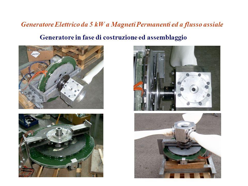 Generatore Elettrico da 5 kW a Magneti Permanenti ed a flusso assiale Generatore in fase di costruzione ed assemblaggio