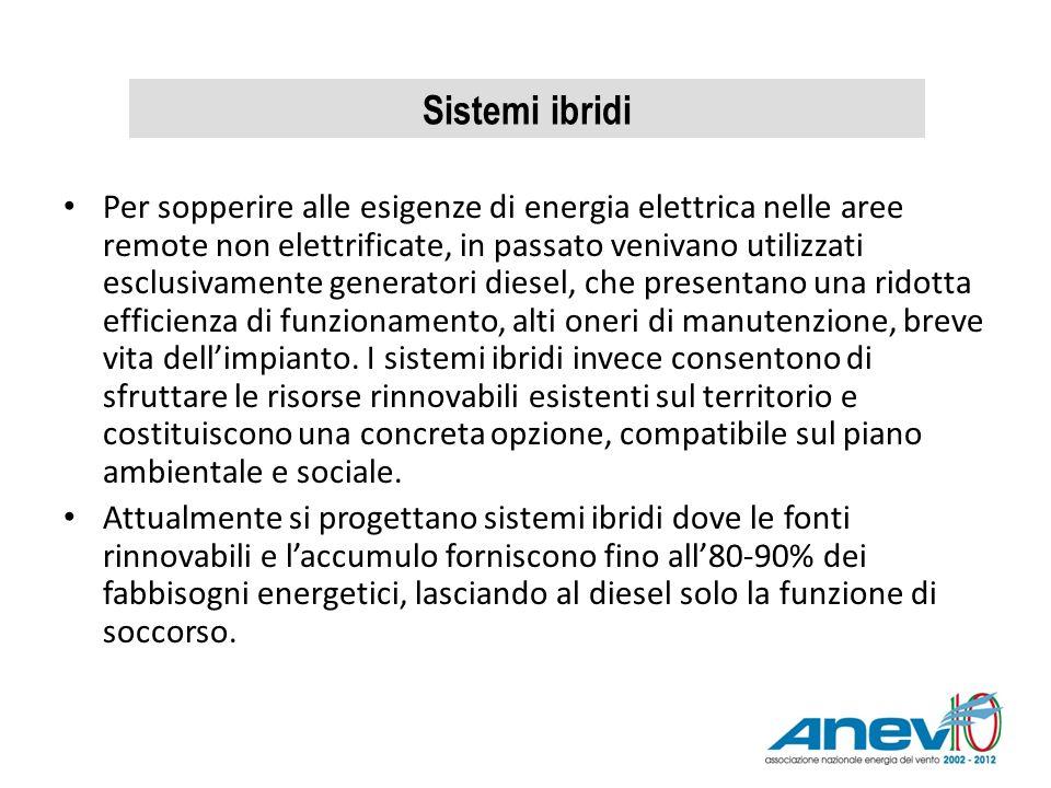 Per sopperire alle esigenze di energia elettrica nelle aree remote non elettrificate, in passato venivano utilizzati esclusivamente generatori diesel,