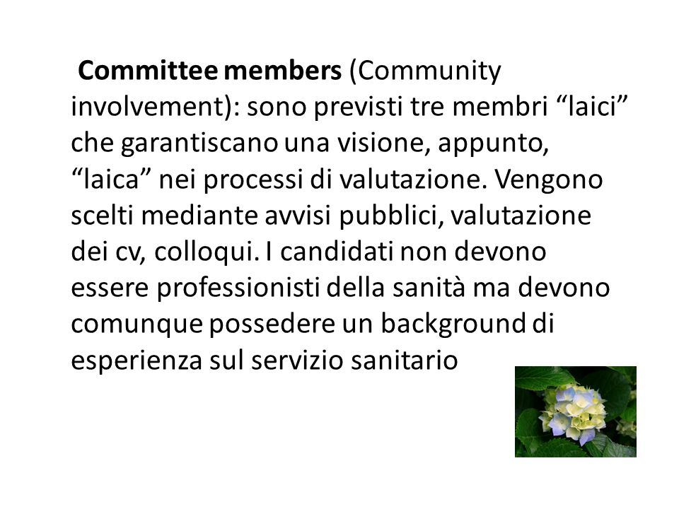 Patient group submission (consumer involvement): al fine di poter presentare evidenze le associazioni dei pazienti vengono forniti dal Segretariato di SMC di un Summary of information for Patients.