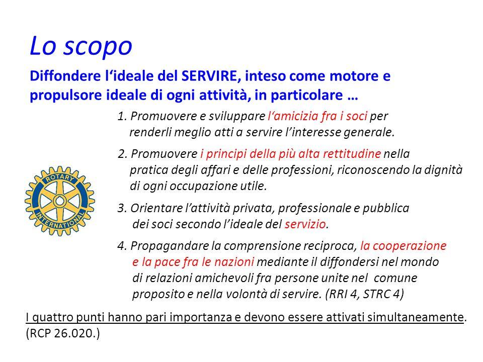 Il concetto di base Fondamentalmente il Rotary è uno stile di vita basato sul Service.