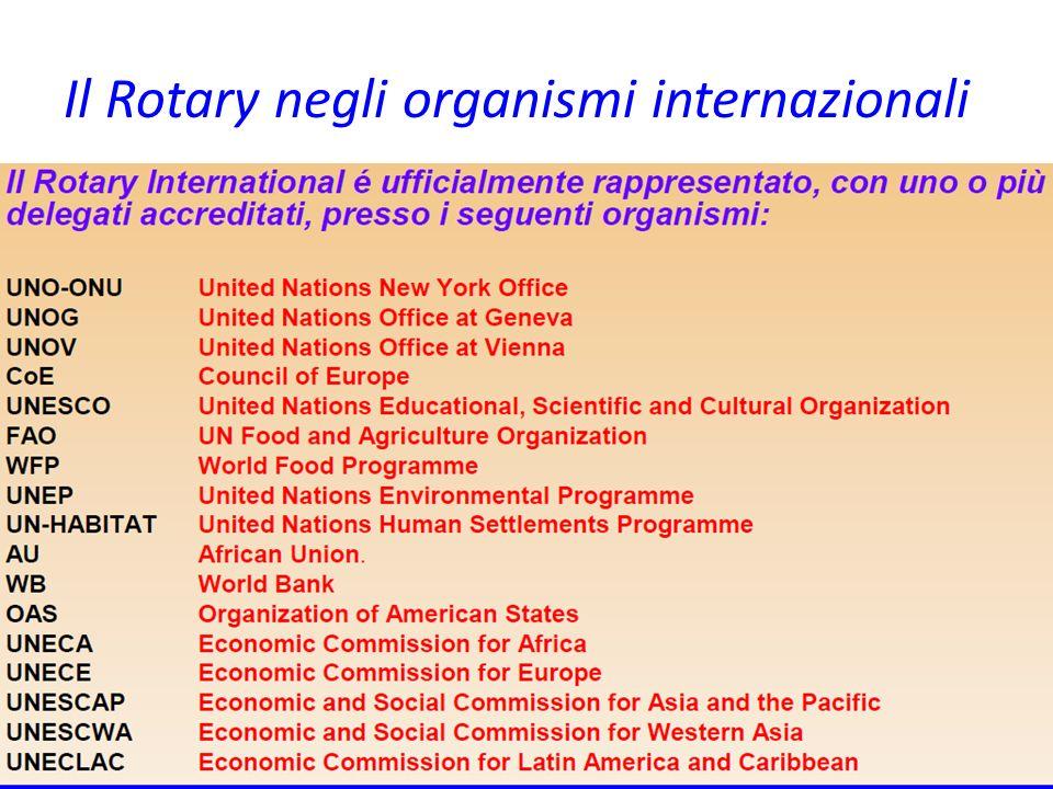 Il Rotary negli organismi internazionali