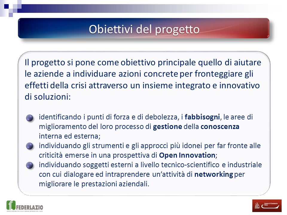 Fonte adattato da EIRMA, 2004 Open Innovation e mercati esteri