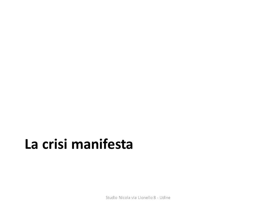 La crisi manifesta Studio Nicola via Lionello 8 - Udine