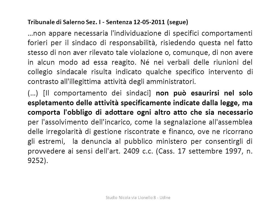 Tribunale di Salerno Sez.