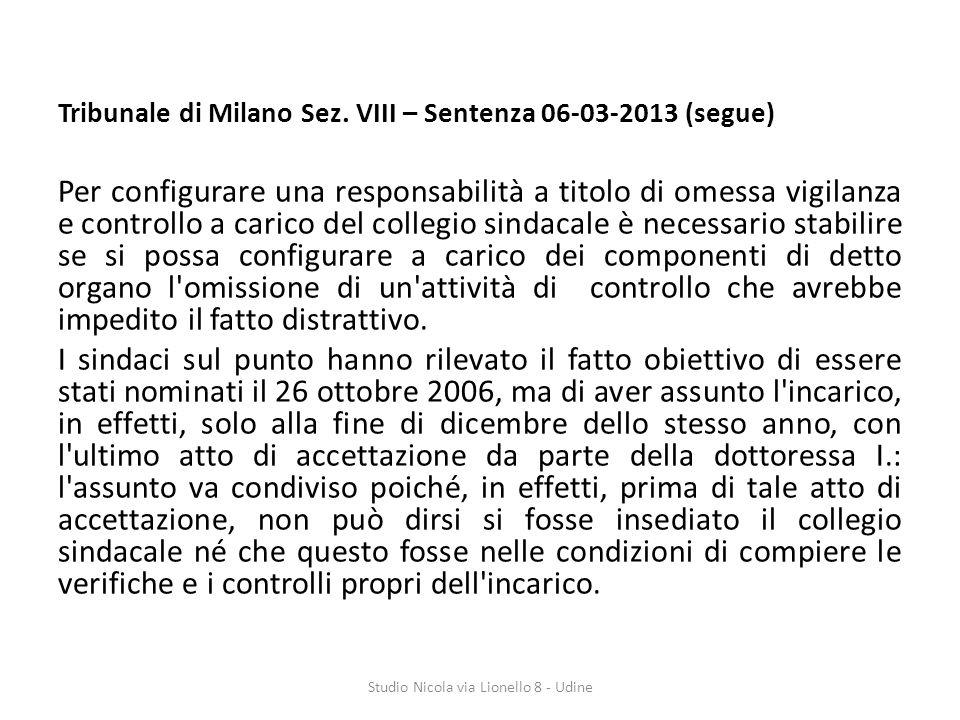 Tribunale di Milano Sez.