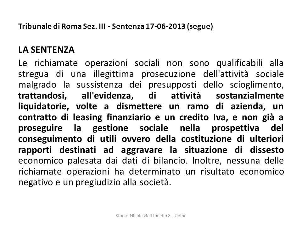Tribunale di Roma Sez.