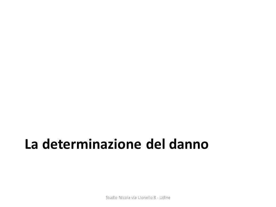 La determinazione del danno Studio Nicola via Lionello 8 - Udine