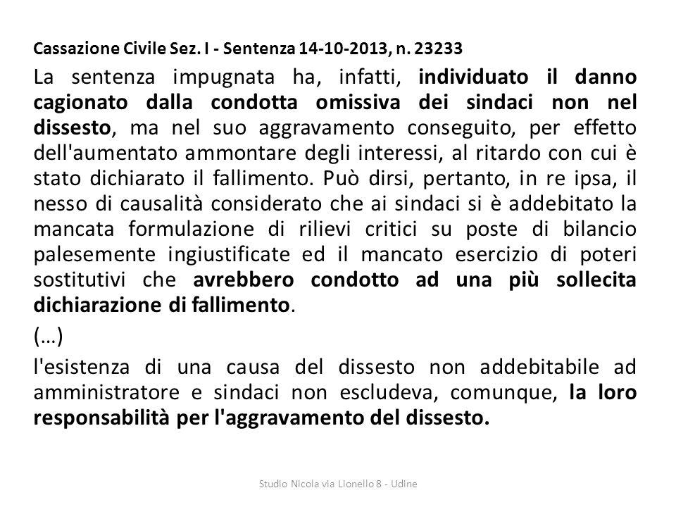 Cassazione Civile Sez.I - Sentenza 14-10-2013, n.