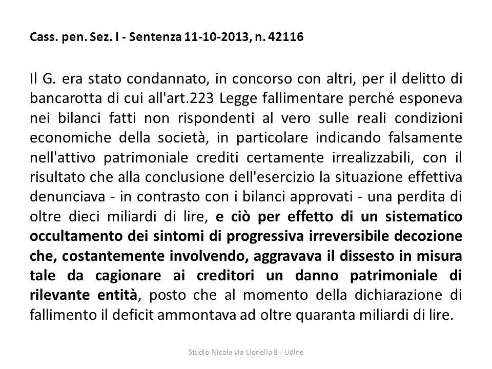 Cass.pen. Sez. I - Sentenza 11-10-2013, n. 42116 Il G.