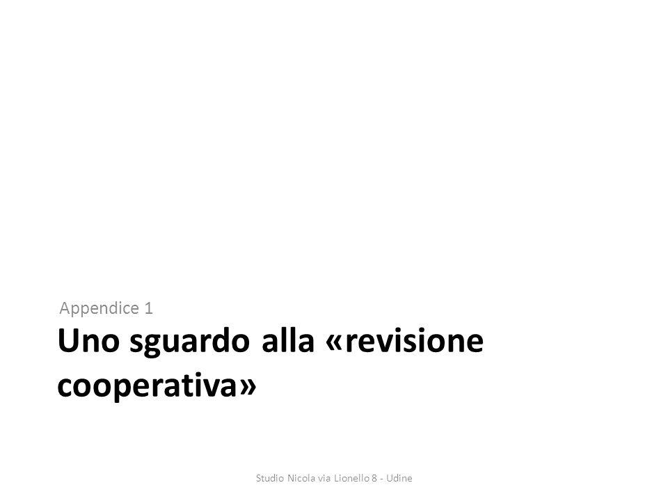Uno sguardo alla «revisione cooperativa» Appendice 1 Studio Nicola via Lionello 8 - Udine